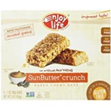 Enjoy Life SunButter Crunch Chewy Bars 1 oz Bars, 5 Count, (Pack of 6)