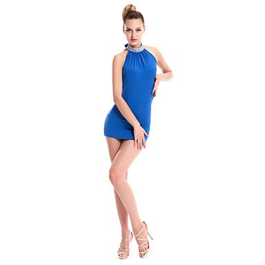 Dancewear ONESIZE BLUE Poliéster Ropa Negro Azul LentejuelasPrimavera Algodón One Verde de Ropa Rojo Paramujer Noche Size Noche Vestidos de Otoño Invierno rwRBgr