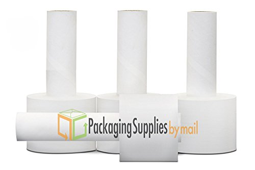 24 Rolls 4'' x 1000' x 80 Ga Clear Wrap Stretch Film Bundling Extended Core by PackagingSuppliesByMail