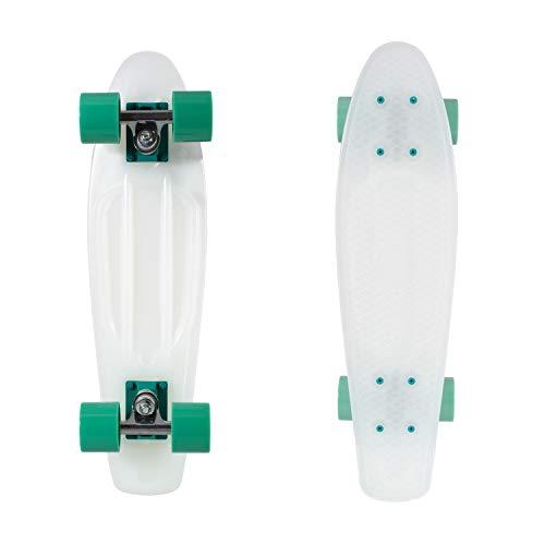 Retrospec Quip Skateboard 22.5' Classic Plastic Mini Cruiser Complete Skate Board w/ABEC 7 Bearings