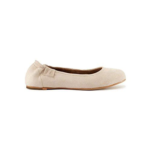 Emu Women's Shelley Suede Leather Ballet Flats Almond thTTQJ4