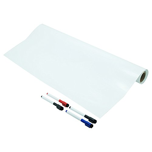 Lockways Dry Erase Whiteboard Sticker – White Board Film 36 × 24, Dry Erase Board Sticker, Large Wall Sticker Decal, Self-Adhesive Message Board for Kids, Office, School, Home by Lockways