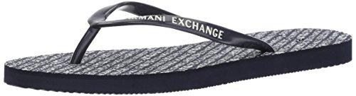 Armani Exchange A|X Women's Classic Printed AX Flip-Flop Evening Blue 2gLJWdgDpG