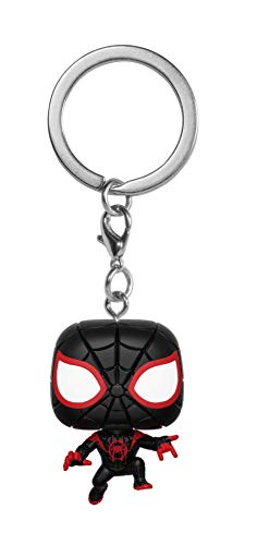 Funko Pop Keychain: Animated Spider-Man Movie - Miles Morales Spider-Man Collectible Figure, Multicolor