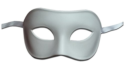Luxury Mask Assorted Venetian Party Halloween Mask, White, One Size -