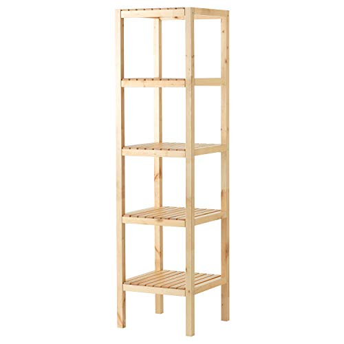 (Wooden Concept ZJ-MJ003 Open Wood 4 Tiers Multifunction Storage Rack Shelving Unit Natural)