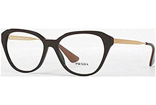 Prada Women's PR 28SV Eyeglasses Brown 54mm
