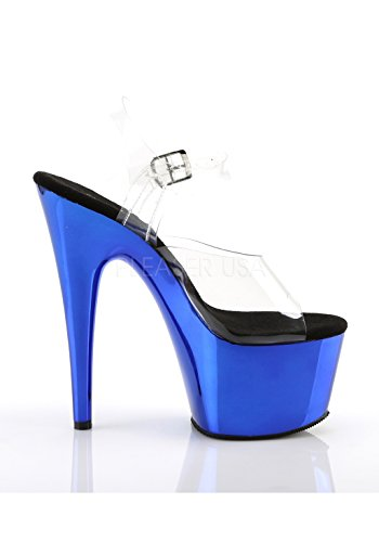 Pleaser Clr Sandales Adore blue Chrome 708 Femme Plateforme AwxAqErXB