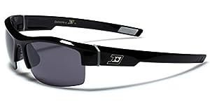 Half Frame Cycling Baseball Surf Wrap Around Sports Sunglasses - Black