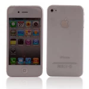 2mm Ultra Thin Hard Case for iPhone 4 White