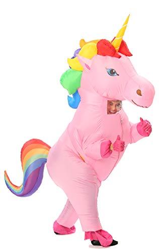 GOPRIME Unicorn Inflatable Costume (Rainbow Large for
