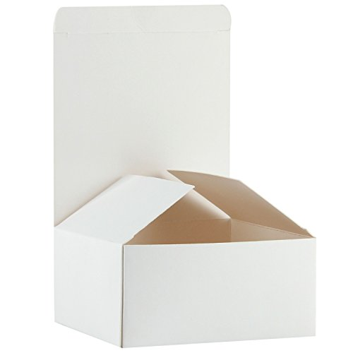 RUSPEPA Recycled Cardboard Gift Boxes - Small Gift Box with Lids for Craft, Cupcake and Cookies - 5