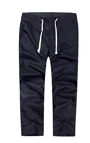 Lápiz Rectos Estilo Vintage Pantalones Para Hombre Hombres Chino Negro De Largos PxqxazfRnw