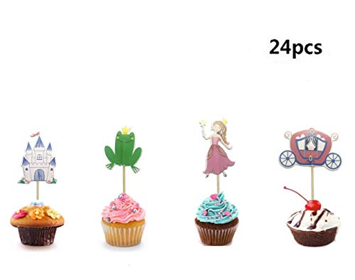 Frog Prince Cake - Maydolbone Frog Prince theme Cupcake Toppers,Food Picks Baby Shower Decor And Cupcake Party Favors