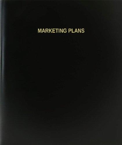 BookFactory® Marketing Plans Log Book / Journal / Logbook - 120 Page, 8.5''x11'', Black Hardbound (XLog-120-7CS-A-L-Black(Marketing Plans Log Book)) by BookFactory