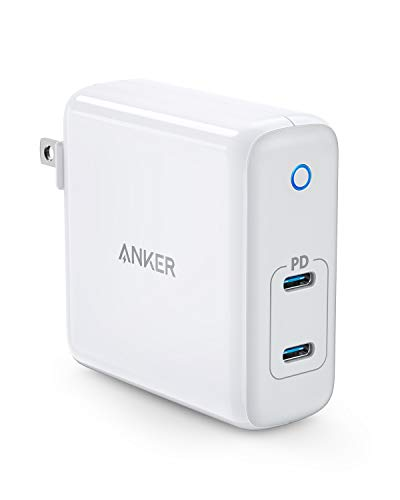 Anker 60W 2-Port USB C Charger, PowerPort Atom PD 2 [GaN Tech] Ultra Compact Foldable Type C Wall Charger, Power Delivery for MacBook Pro/Air, iPad Pro, iPhone XR/XS/Max/X/8, Pixel, Galaxy, ()