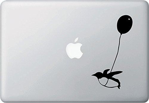 Flying Balloon Penguin - D1 - Macbook or Laptop Decal - Copyright © Yadda-Yadda Design Co. (3.5