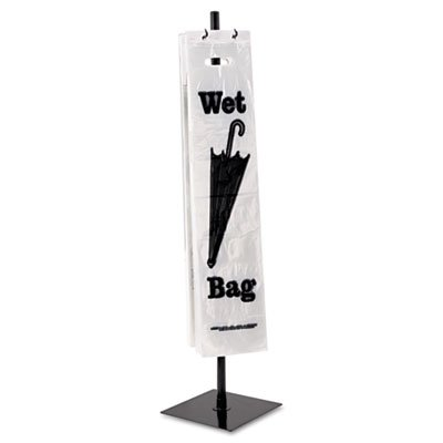 Wet Umbrella Bag Stand, Powder Coated Steel, 10w x 10d x 40h, Black, Sold as 1 Each
