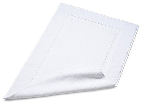 Chakir Turkish Linens Turkish Cotton Luxury Hotel amp Spa Bath Towel Bath Mat  Set of 2 White
