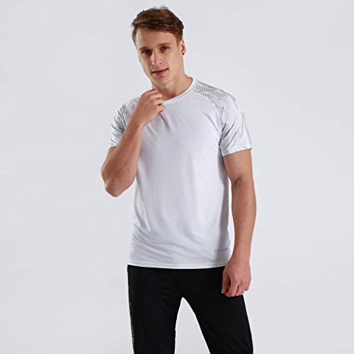 Winsummer Men's Dry Fit Athletic Shirts Short Sleeve T-Shirt Running Fitness Tee Shirts Crewneck Tshirts by Winsummer (Image #1)