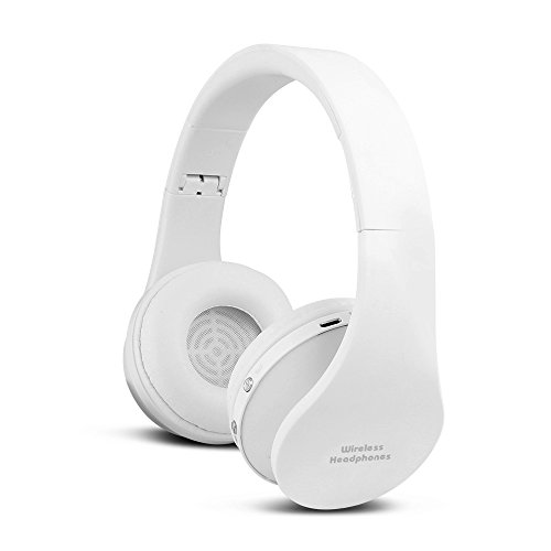 FX-Viktaria Dual Mode Wireless Over-Ear Headphone On Ear Headphone Stereo Headset Lightweight Design, Compatible with iPods, iPhones, iPads, Smartphones, Tablets, PC and Laptops-White