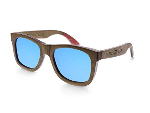 MOSCA de Sunglasses modelo madera NEGRA Gafas Polarized ® Brown SKATE Wood ORFPwWEqx