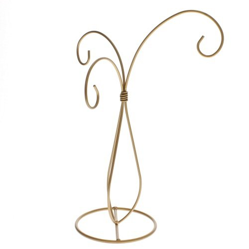 3 Arm Gold Scroll Ornament Stand Ornament by Tripar