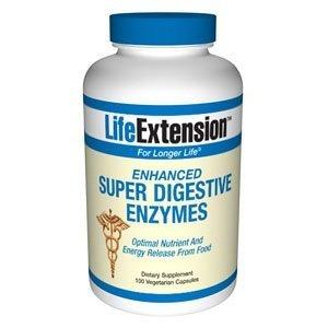 Prolongation de la vie améliorée Digestive Enzyme savoir, 100 capsules végétariennes