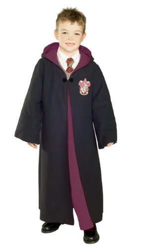 Hooded Robe Child Costumes (Rubies Costume Deluxe Harry Potter Child's Costume Robe With Gryffindor Emblem, Small)