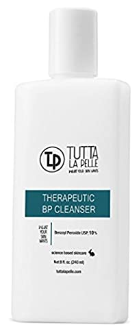 TLP 10% Benzoyl Peroxide Acne Wash - THERAPEUTIC BP - 8 oz (Benzoyl Peroxide Face)