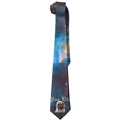 Men's Tie DNA Helix Scientist Long Necktie Skinny Neckwear Silk ()