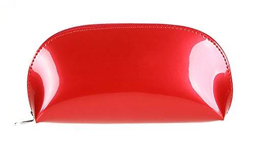 - Vigourtrader Girls' Small Cosmetic Bag For Purse Patent Leather Makeup Bag Pencil Pouch Handbag Cluth