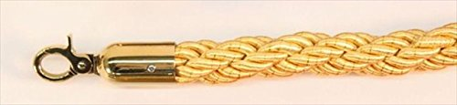 VIP Crowd Control 1678 60 in. Braided Rope with Gold Closable Hook - Yellow-Gold by VIP Crowd Control (Image #1)