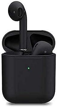 The Matte Black TWS Bluetooth Wireless Earphones Model Earbuds - Wireless Charging Ear Detection Sensor