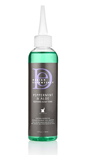 Design Essentials Peppermint & Aloe Soothing Scalp & Skin Tonic for Instant Itch Relief from Scalp Irritation-4oz.