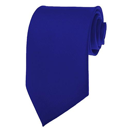 Royal Blue Mens Tie - Royal Blue Necktie SOLID Mens Neck Tie Satin by K. Alexander
