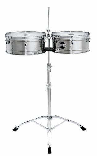 Meinl Percussion LC1STS Artist Series Luis Conte Signature Stainless Steel Timbales, 14-Inch and 15-Inch by Meinl Percussion