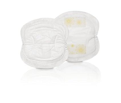 Medela 0080323 - Pack de 60 discos absorbentes desechables para pérdidas de leche, color blanco