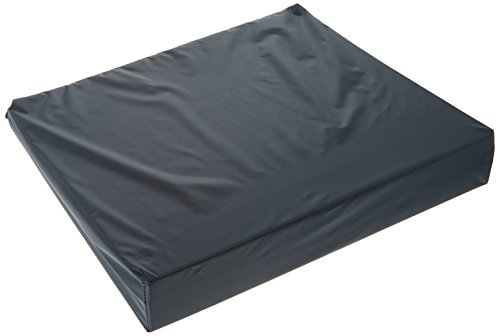 Wheelchair Wedge Cushion - Removable Washable Cover - Navy - 16in x 18in - Fits Any Chair or Mobility Device - By Hermell Products by Hermell Products Inc.