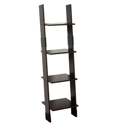 Zenna Home 9437CH, Wood Ladder Linen Tower, Espresso