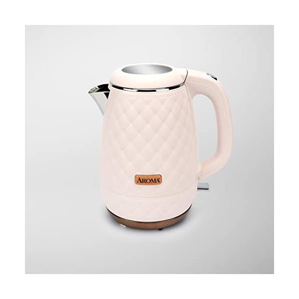 Aroma Professional AWK-3000P Surgical Grade 316 Stainless Steel Electric Water Kettle, 1.2L, Pink 1