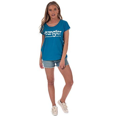 Short Para Wrangler Cortos Blue Azul Mujer Pantalones Boyfriend 34g rolling Oqw55RPg