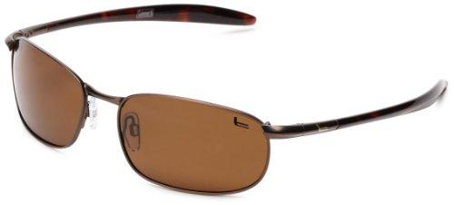 Coleman Roadster Polarized Rimless Sunglasses,Matte Brown,139 - Sunglasses Coleman