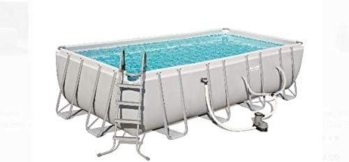 Coleman 18′ X 9′ X 48″ Power Steel Rectangular Frame Above Ground Swimming Pool