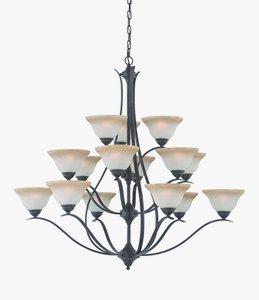 Philips Lighting TK0023722 Prestige 15 Light Chandelier Sable Bronze ()