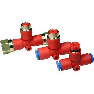 SMC KEC-03 connectors - ke valve relief one touch family ke 3/8 inch - relief valve push button/guard - package of 10 by SMC