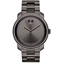 Movado Men's BOLD Metals Watch with a Printed Index Dial, Gunmetal Grey (Model 3600259)