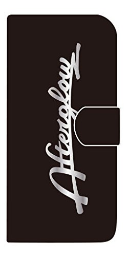 アフターグロー iPhone7 手帳ケース〈黒・銀〉