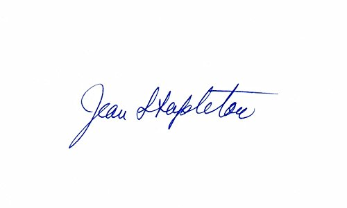 Jean Stapleton Signed - Autographed 3x5 inch Index Card - All in the Family - Edith Bunker - Archie Bunker's Place - Deceased 2013