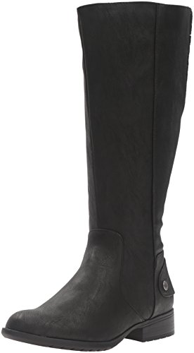 LifeStride Women's Xandywc Riding Boot- Wide Calf, Black, 8 M US